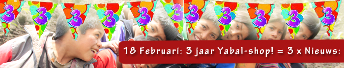 3 Jaar Yabal-shop!